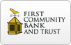 First Community Bank & Trust logo, bill payment,online banking login,routing number,forgot password